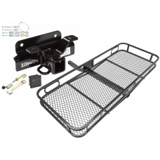 Trailer Tow Hitch For 03-08 Dodge Ram 1500 2500 3500 Basket Cargo Carrier Platform Hitch Lock and Cover