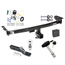 """Trailer Tow Hitch For 03-04 Volvo XC90 Deluxe Package Wiring 2"""" Ball and Lock"""