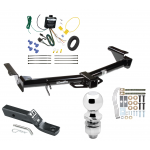 "Trailer Tow Hitch For 03-09 Lexus GX470 07-09 Toyota 4Runner Complete Package w/ Wiring and 2"" Ball"