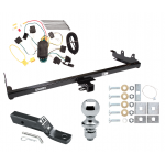 """Trailer Tow Hitch For 04-07 Ford Freestar Mercury Monterey Complete Package w/ Wiring and 1-7/8"""" Ball"""