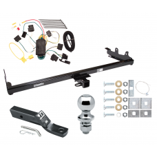 "Trailer Tow Hitch For 04-07 Ford Freestar Mercury Monterey Complete Package w/ Wiring and 1-7/8"" Ball"