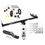 """Trailer Tow Hitch For 04-07 Ford Freestar Mercury Monterey Complete Package w/ Wiring and 2"""" Ball"""