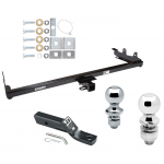 """Trailer Tow Hitch For 04-07 Ford Freestar Mercury Monterey Receiver w/ 1-7/8"""" and 2"""" Ball"""