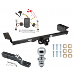 "Trailer Tow Hitch For 04-09 Nissan Quest Complete Package w/ Wiring and 1-7/8"" Ball"