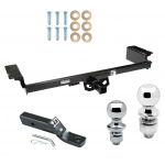 """Trailer Tow Hitch For 04-09 Nissan Quest Receiver w/ 1-7/8"""" and 2"""" Ball"""