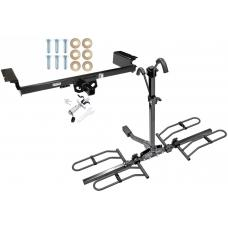 Trailer Tow Hitch For 04-09 Nissan Quest Platform Style 2 Bike Rack w/ Anti Rattle Hitch Lock