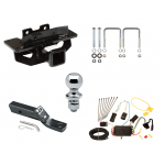 "Trailer Tow Hitch For 04-09 Dodge Durango 07-09 Chrysler Aspen Complete Package w/ Wiring and 1-7/8"" Ball"