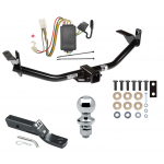 """Trailer Tow Hitch For 04-05 Mitsubishi Endeavor Complete Package w/ Wiring and 1-7/8"""" Ball"""