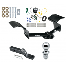 """Trailer Tow Hitch For 04-09 Cadillac SRX w/o Sport Package Fascia Complete Package w/ Wiring and 1-7/8"""" Ball"""