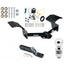 """Trailer Tow Hitch For 04-09 Cadillac SRX w/o Sport Package Fascia Complete Package w/ Wiring and 2"""" Ball"""