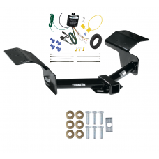 Trailer Tow Hitch For 04-09 Cadillac SRX w/o Sport Package Fascia w/ Wiring Harness Kit