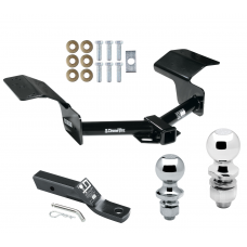 """Trailer Tow Hitch For 04-09 Cadillac SRX w/o Sport Package Fascia Receiver w/ 1-7/8"""" and 2"""" Ball"""