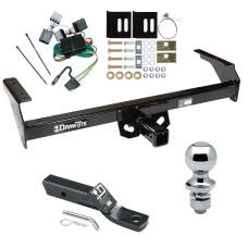 "Trailer Tow Hitch For 88-97 Nissan D21 Pickup Complete Package w/ Wiring and 1-7/8"" Ball"