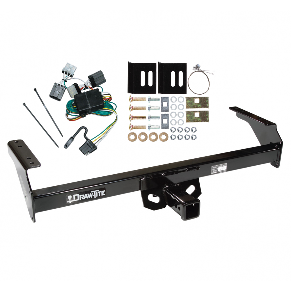 trailer tow hitch for 88 97 nissan d21 pickup w wiring. Black Bedroom Furniture Sets. Home Design Ideas
