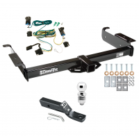 "Trailer Tow Hitch For 03-21 Chevy Express GMC Savana 1500 2500 3500 Complete Package w/ Wiring and 2"" Ball"