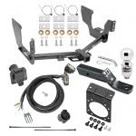 "Complete Tow Package For 15-19 Ford F-150 w/ 7-Way RV Wiring Harness Kit 2"" Ball and Mount Bracket 2"" Receiver Class 4"