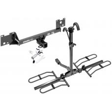 Trailer Tow Hitch For 15-19 RAM ProMaster City Platform Style 2 Bike Rack w/ Anti Rattle Hitch Lock