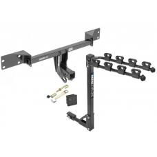 Trailer Tow Hitch w/ 4 Bike Rack For 15-20 Mercedes-Benz GLA250 17-19 Infiniti QX30 tilt away adult or child arms fold down carrier w/ Lock and Cover