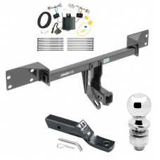 "Trailer Tow Hitch For 17-19 Infiniti QX30 Except Sport Complete Package w/ Wiring and 2"" Ball"