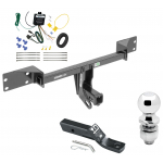"Trailer Tow Hitch For 15-19 Mercedes-Benz GLA250 Complete Package w/ Wiring and 2"" Ball"