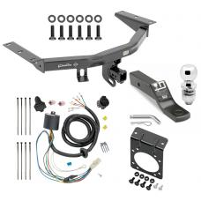 "Complete Tow Package For 16-20 Honda Pilot w/ 7-Way RV Wiring Harness Kit 2"" Ball and Mount Bracket 2"" Receiver Class 3"