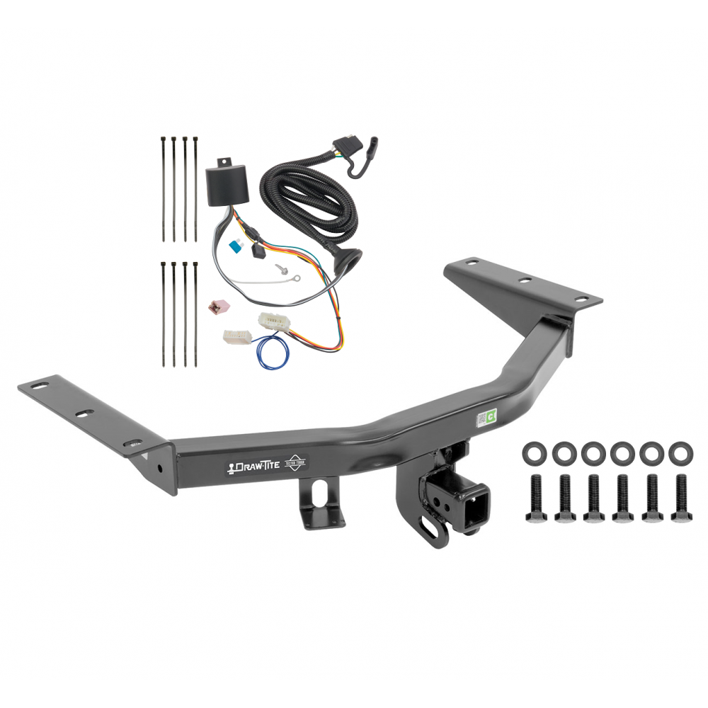 Trailer Tow Hitch For 40 40 Honda Pilot w/ Wiring Harness ...