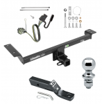 """Trailer Tow Hitch For 12-14 Land Rover Range Rover Evoque Excluding Autobiography Complete Package w/ Wiring and 1-7/8"""" Ball"""