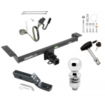 """Trailer Tow Hitch For 12-14 Land Rover Range Rover Evoque Excluding Autobiography Deluxe Package Wiring 2"""" Ball and Lock"""