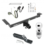 """Trailer Tow Hitch For 12-14 Land Rover Range Rover Evoque Excluding Autobiography Complete Package w/ Wiring and 2"""" Ball"""