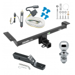 """Trailer Tow Hitch For 15-19 Land Rover Range Rover Evoque Excluding Autobiography Complete Package w/ Wiring and 1-7/8"""" Ball"""