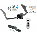 """Trailer Tow Hitch For 11-19 RAM 1500 Complete Package w/ Wiring and 2"""" Ball"""