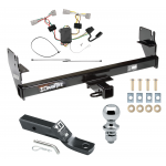 "Trailer Tow Hitch For 05-15 Toyota Tacoma Except X-Runner Complete Package w/ Wiring and 1-7/8"" Ball"