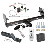 "Trailer Tow Hitch For 05-15 Toyota Tacoma Except X-Runner Deluxe Package Wiring 2"" Ball and Lock"