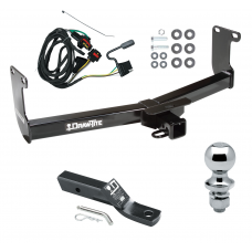 "Trailer Tow Hitch For 05-11 Dodge Dakota RAM Mitsubishi Raider Complete Package w/ Wiring and 1-7/8"" Ball"