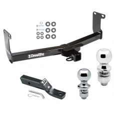 "Trailer Tow Hitch For 05-11 Dodge Dakota RAM Mitsubishi Raider Receiver w/ 1-7/8"" and 2"" Ball"