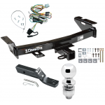 """Trailer Tow Hitch For 97-05 Chevy Venture Oldsmobile Silhouette Pontiac Trans Sport Montana Complete Package w/ Wiring and 2"""" Ball"""