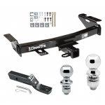 """Trailer Tow Hitch For 97-09 Chevy Venture Uplander Oldsmobile Silhouette Pontiac Montana Buick Terraza Receiver w/ 1-7/8"""" and 2"""" Ball"""