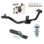 "Trailer Tow Hitch For 06-14 Honda Ridgeline Complete Package w/ Wiring and 1-7/8"" Ball"