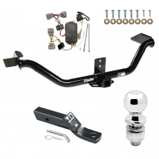 "Trailer Tow Hitch For 06-14 Honda Ridgeline Complete Package w/ Wiring and 2"" Ball"