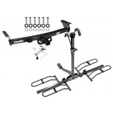 Trailer Tow Hitch For 05-19 Nissan Frontier Suzuki Equator Platform Style 2 Bike Rack w/ Anti Rattle Hitch Lock