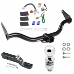 """Trailer Tow Hitch For 05-15 Nissan Xterra Complete Package w/ Wiring and 2"""" Ball"""