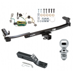 "Trailer Tow Hitch For 05-07 Ford Five Hundred Freestyle  Complete Package w/ Wiring and 1-7/8"" Ball"