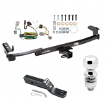 "Trailer Tow Hitch For 05-07 Ford Five Hundred Freestyle Complete Package w/ Wiring and 2"" Ball"