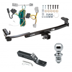 "Trailer Tow Hitch For 08-09 Ford Taurus Mercury Sable Sedan Complete Package w/ Wiring and 1-7/8"" Ball"