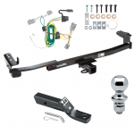 "Trailer Tow Hitch For 08-09 Ford Taurus X  Complete Package w/ Wiring and 1-7/8"" Ball"