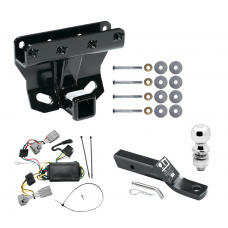 """Trailer Tow Hitch For 05-06 Jeep Grand Cherokee Complete Package w/ Wiring and 2"""" Ball"""