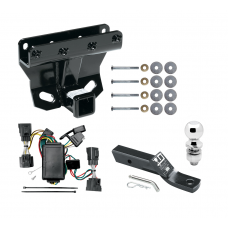 """Trailer Tow Hitch For 06-10 Jeep Commander Complete Package w/ Wiring and 2"""" Ball"""