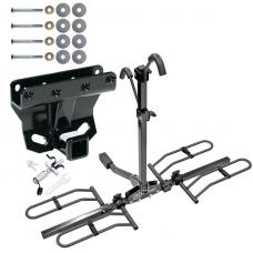 Trailer Tow Hitch For 05-10 Jeep Grand Cherokee WK Commander Platform Style 2 Bike Rack w/ Anti Rattle Hitch Lock