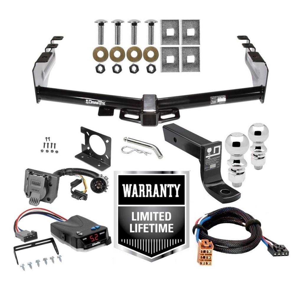 Trailer Hitch Brake Control and Wiring Kit For 99-02 Chevy Silverado GMC  Sierra 1500 99-02 2500 LD w/ Dual 2