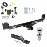 "Trailer Tow Hitch For 04-10 Volkswagen Touareg Complete Package w/ Wiring and 1-7/8"" Ball"